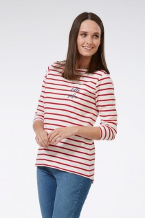 Camiseta rayas rojas hello sailor